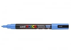 Acheter Marqueur posca - pointe fine 1,5 mm - Bleu Ciel - 3,70€ en ligne sur La Petite Epicerie - Loisirs créatifs
