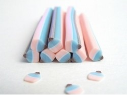 Cupcake cane - blue and pink