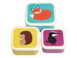 Set de 3 Boîtes hermétiques / lunchbox - animaux