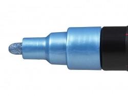 Marqueur posca - pointe moyenne 2,5 mm - Bleu métal