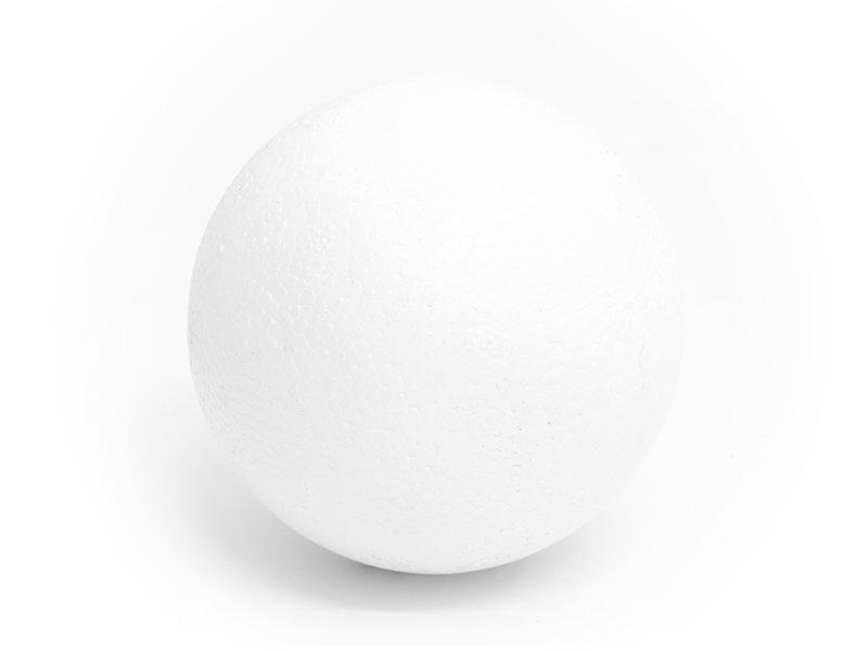 Customisable polystyrene ball (8 cm) - white