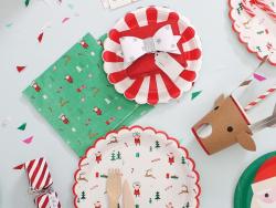 20 serviettes en papier 16cm - Noël en vert