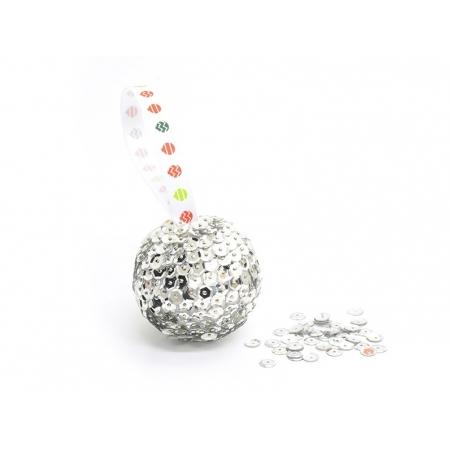 Set of 10 polystyrene balls (4 cm) - white