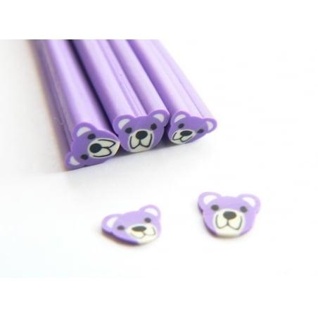 Acheter Cane nounours violet - en pâte fimo - 0,49€ en ligne sur La Petite Epicerie - Loisirs créatifs