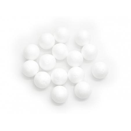 Lot de 15 boules polystyrène 2,5 cm - blanc Rico Design - 1