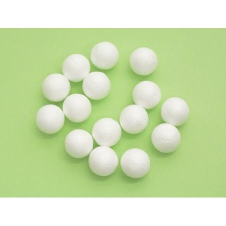 Lot de 15 boules polystyrène 2,5 cm - blanc Rico Design - 2