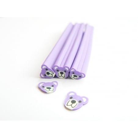Acheter Cane nounours violet - en pâte fimo - 0,99€ en ligne sur La Petite Epicerie - Loisirs créatifs