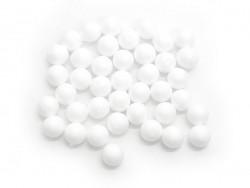 Set with 40 polystyrene balls (1.5 cm) - white