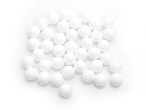 Lot de 40 boules polystyrène 1,5 cm - blanc Rico Design - 1