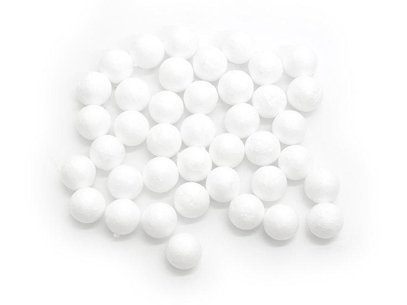Set of 40 polystyrene balls (1.5 cm) - white