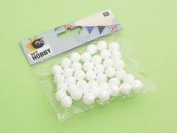 Lot de 40 boules polystyrène 1,5 cm - blanc Rico Design - 3