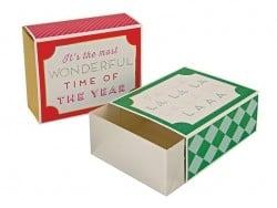 2 boîtes cadeau de Noël ECRITURES - boîtes d'allumette géantes