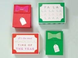 2 beschriftete Geschenkschachteln für Weihnachten - riesige Streichholzschachteln