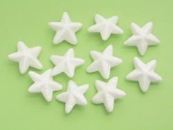 Set mit 10 Styroporkugeln (4,5 cm) - weiß