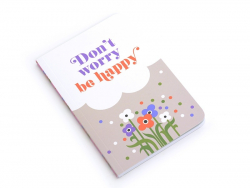 "Carnet de poche ""be happy"" 15 x 10 cm - 88 pages lignées"