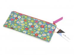 Pencil case with a flower pattern (21 cm x 8 cm) - Fifi Mandirac