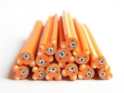 Teddy bear cane - orange