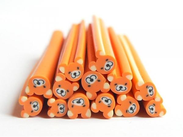 Teddy bear cane - orange