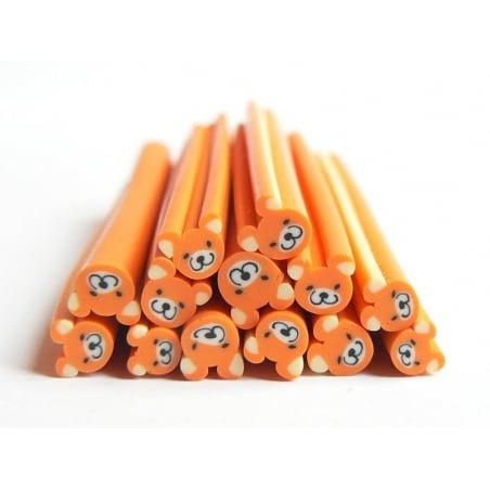 Acheter Cane nounours orange - en pâte fimo - 0,99€ en ligne sur La Petite Epicerie - Loisirs créatifs