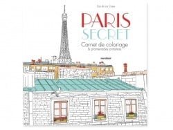 Livre Paris secret - carnet de coloriage