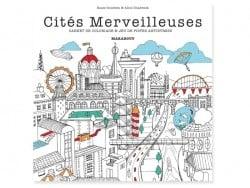 Livre Cités merveilleuses - carnet de coloriage Marabout - 1