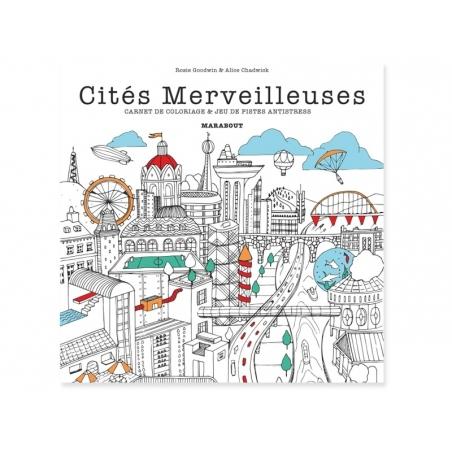 """French book """" Cités merveilleuses - carnet de coloriage"""""""