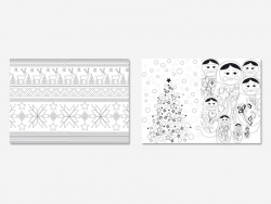 Livre Hiver - 100 coloriages anti stress