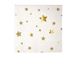 20 serviettes en papier 12,5cm - Etoiles