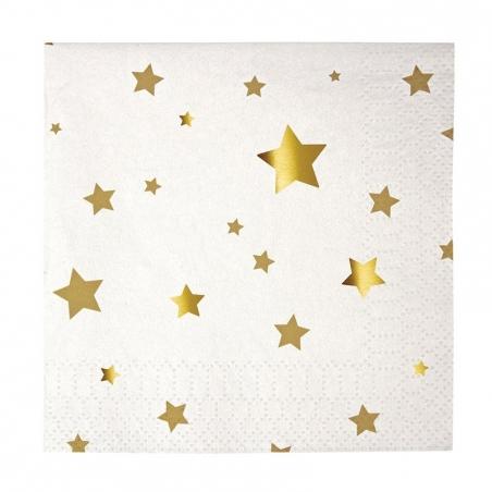 Acheter 20 serviettes en papier 12,5cm - Etoiles - 5,60€ en ligne sur La Petite Epicerie - 100% Loisirs créatifs