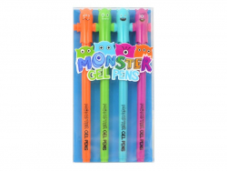 "LOT DE 4 stylos gel monstres ""monsters"""