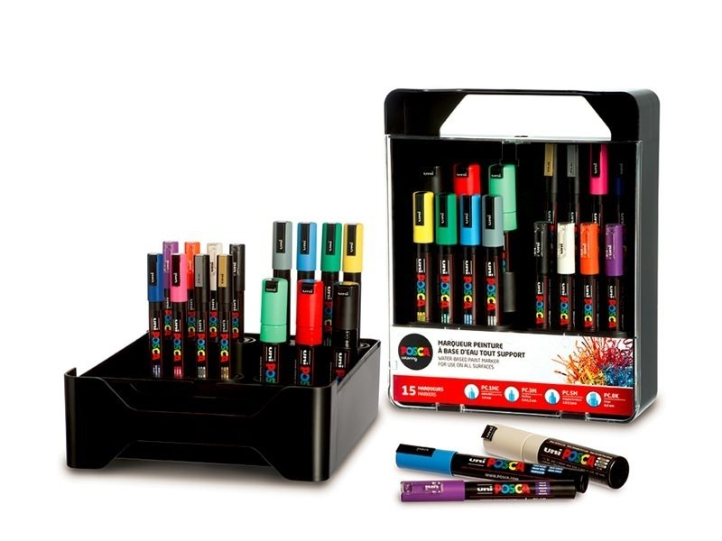 Set of 15 POSCA markers