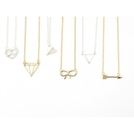 Delicate pretzel necklace - silver-coloured