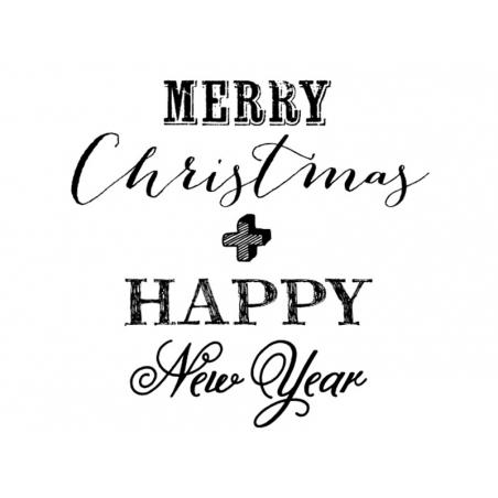 Acheter Tampon Merry Christmas Happy New Year
