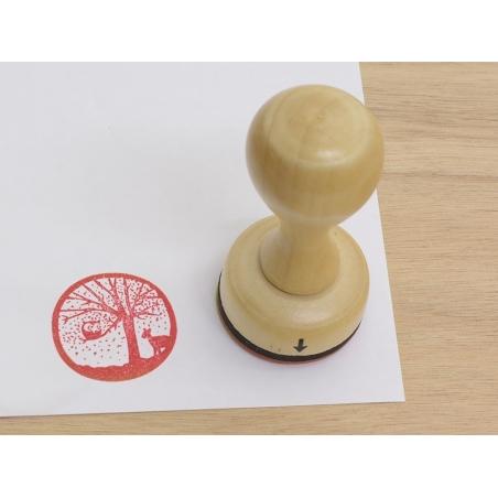 Stamp with a wooden handle - Winter wonderland