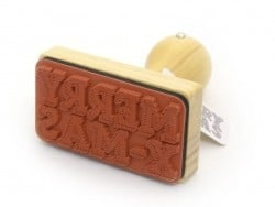 Stamp with a wooden handle - Merry X-Mas