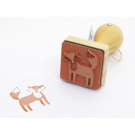 Stamp with a wooden handle - Fox