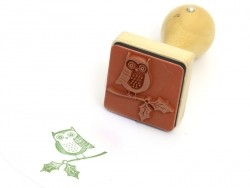 Stamp with a wooden handle - Owl