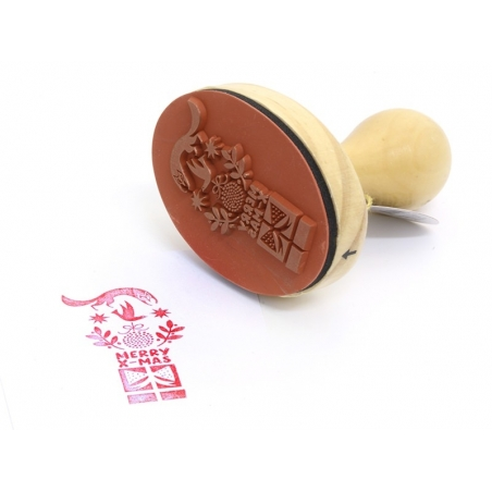 Stamp with a wooden handle - Fox / Graphic design