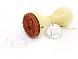 Stamp with a wooden handle - Handmade with love