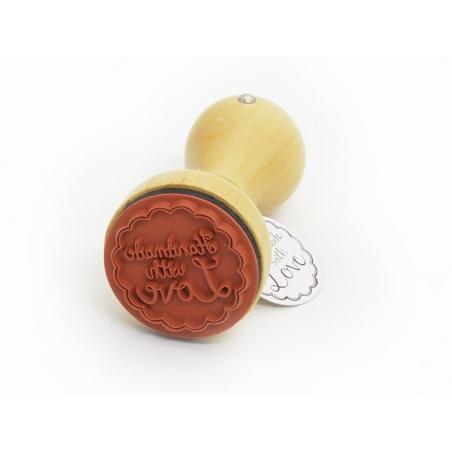 Acheter Tampon avec manche en bois - handmade with love - 8,00€ en ligne sur La Petite Epicerie - Loisirs créatifs