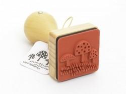 Tampon avec manche en bois - champignon