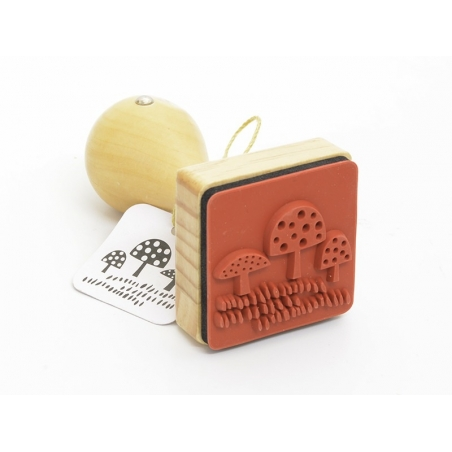 Stamp with a wooden handle - Mushroom