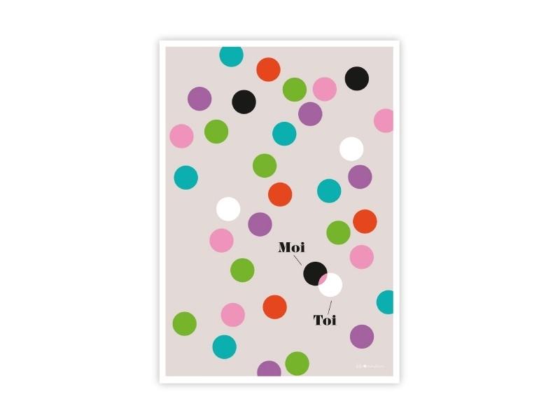 """Poscard """"Toi + moi"""" (You and I)"""
