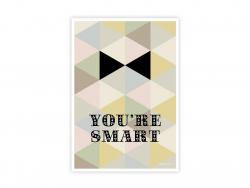 "Postcard ""You're smart"""