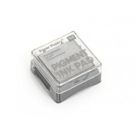 Silver stamp ink pad - metallic