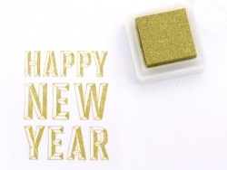 Golden stamp ink pad - metallic