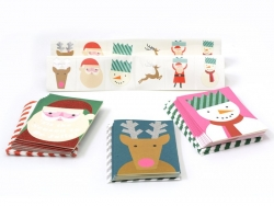 Kit with 24 greeting cards with tattoos - Christmas