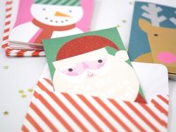 Set mit 24 Wunschkarten und Tattoos - Weihnachten