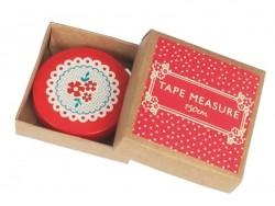 Measuring tape (150 cm) - Red flowers/vintage design