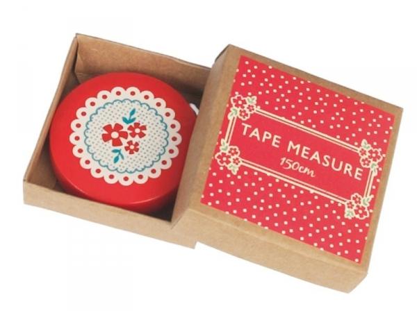 Mètre ruban 150 cm - fleurs rouges vintage Dotcomgiftshop - 1